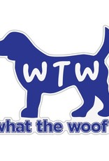 """Dog Speak 3"""" Decal WTW What The Woof?"""