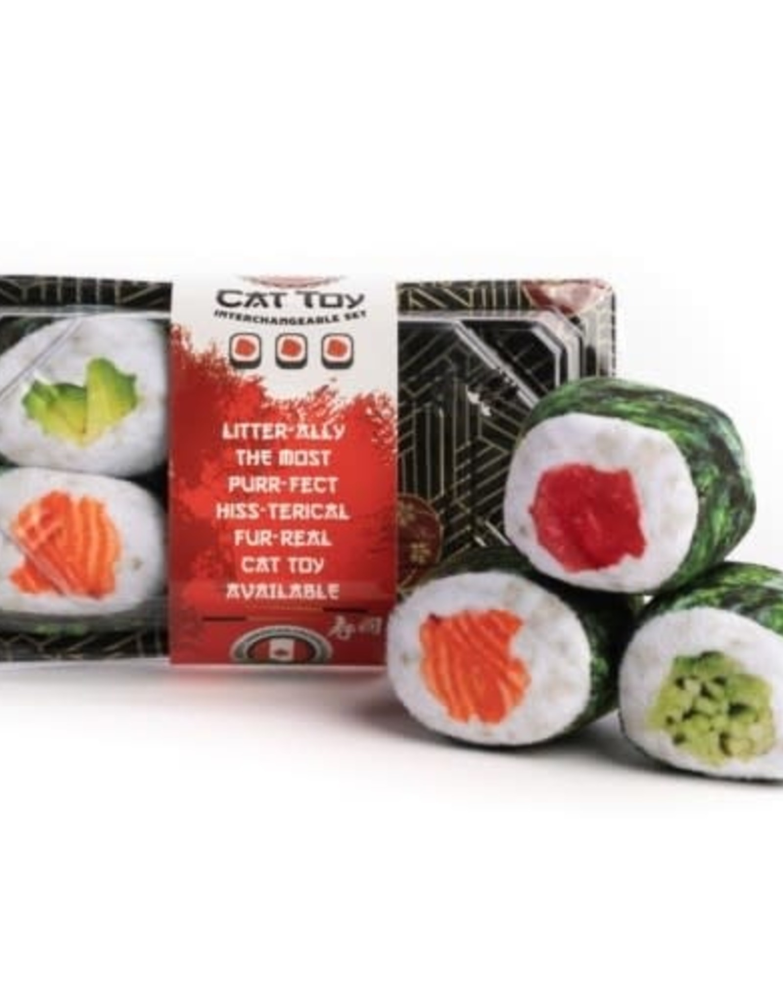 Fabcat Sushi Tray - 6 Sushi Rolls