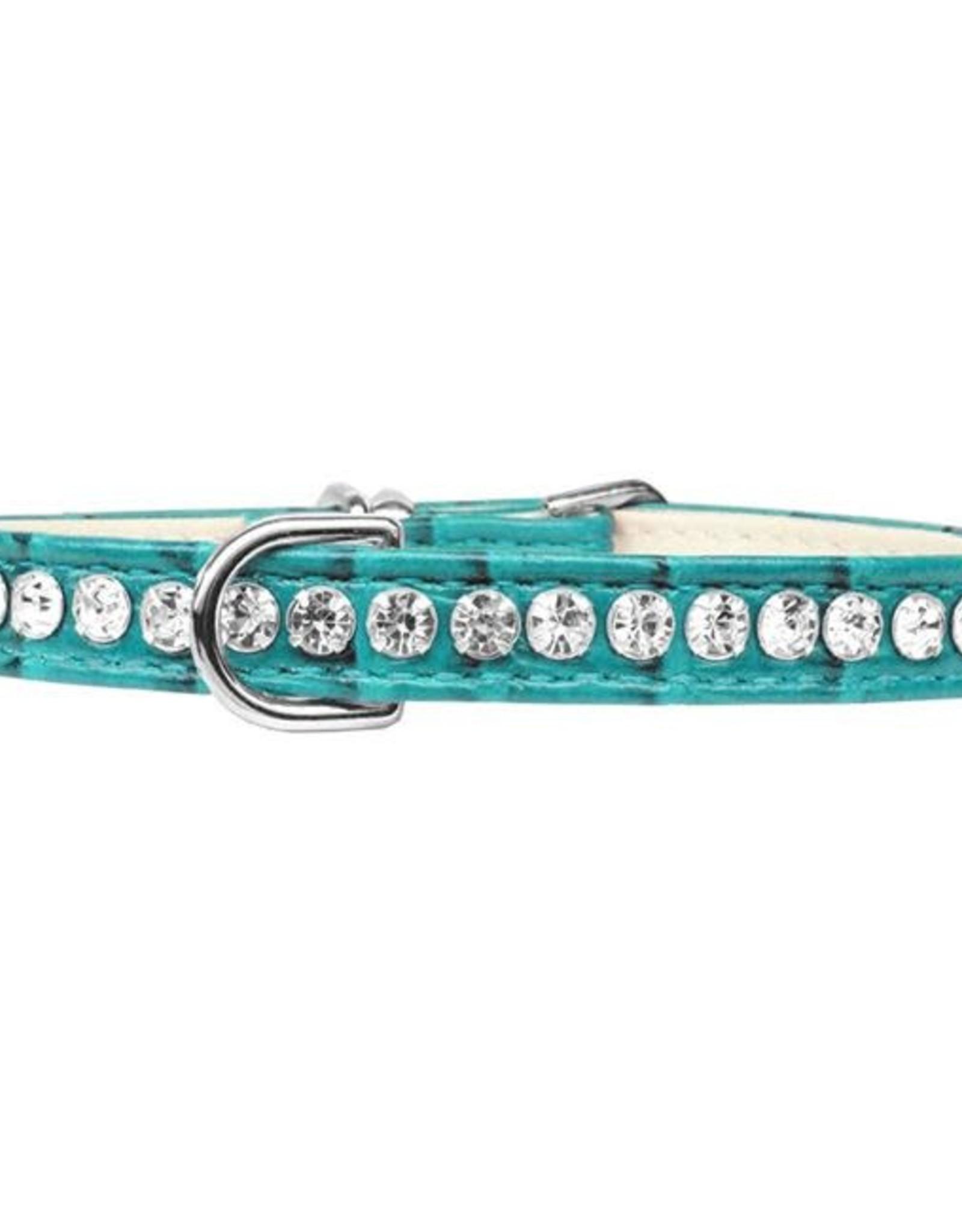 Designer Faux Croc  Beverly Style Dog Collar