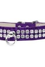 Large Designer Faux Croc  Beverly Style Dog Collar