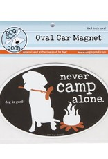 Dog Is Good Car Magnet: Never Camp Alone