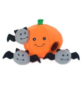 ZippyPaws ZippyPaws Halloween Burrow - Pumpkin with Bats