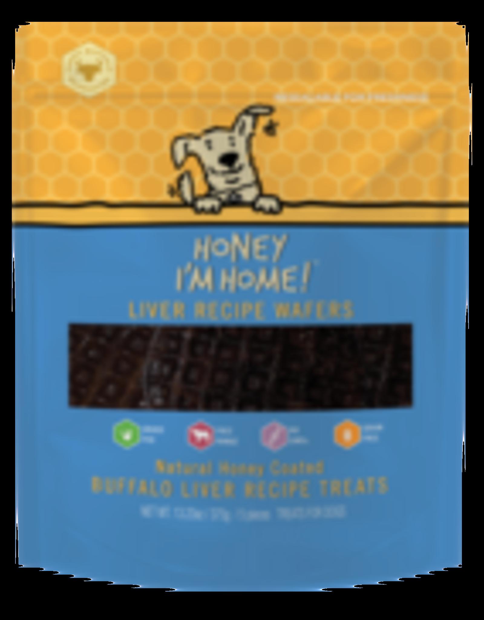 Honey I'm Home Honey I'm Home Buffalo Liver Wafers 5pk