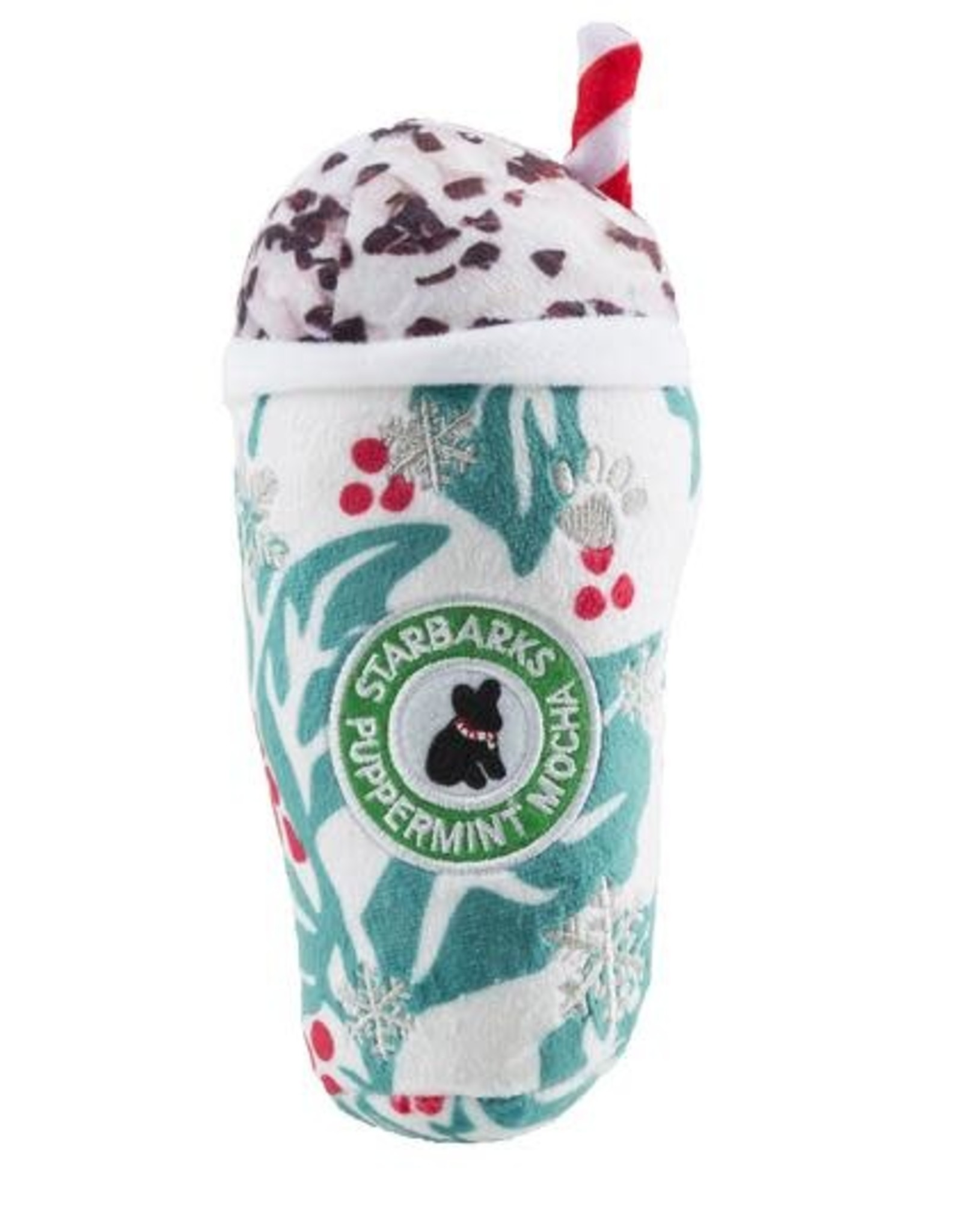 Haute Diggity Dog Starbarks Puppermint Mocha - Holly Print Cup