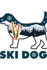 "Dog Speak 3"" Decal Ski Dog"