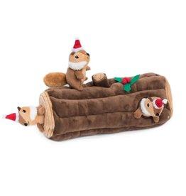 ZippyPaws Zippy Paws Holiday Yule Log Burrow