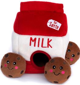 Zippy Paws Holiday Burrow Santa's Milk and Cookies