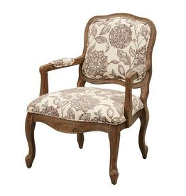 Monroe Camel Back Exposed Wood Chair