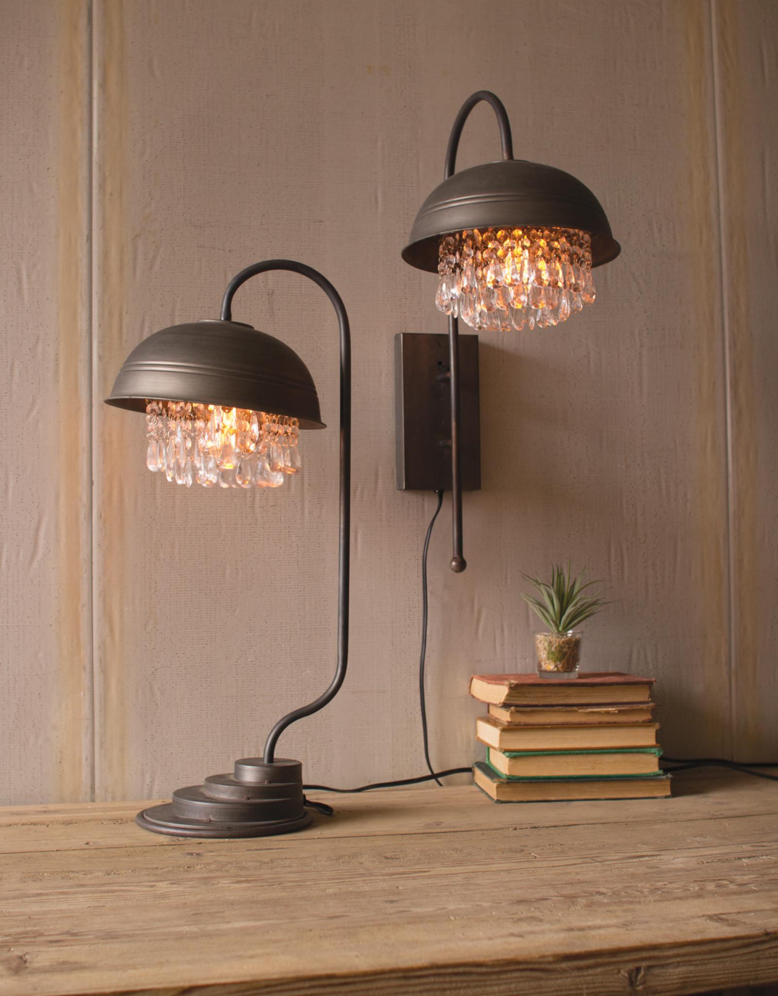 Glass Gem Table Lamp