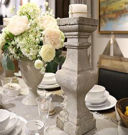 Corin Stone Ivory Candleholders - Set of 2