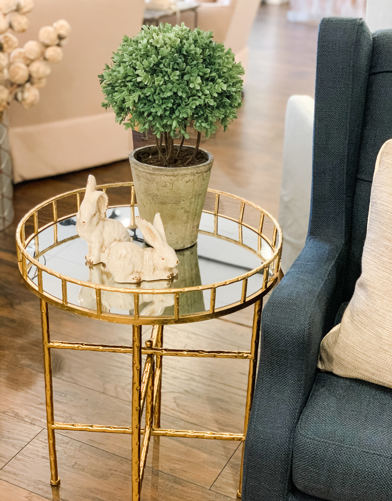 Tilly Bright Gold Accent Table