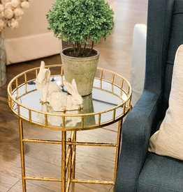 Round Gold Table