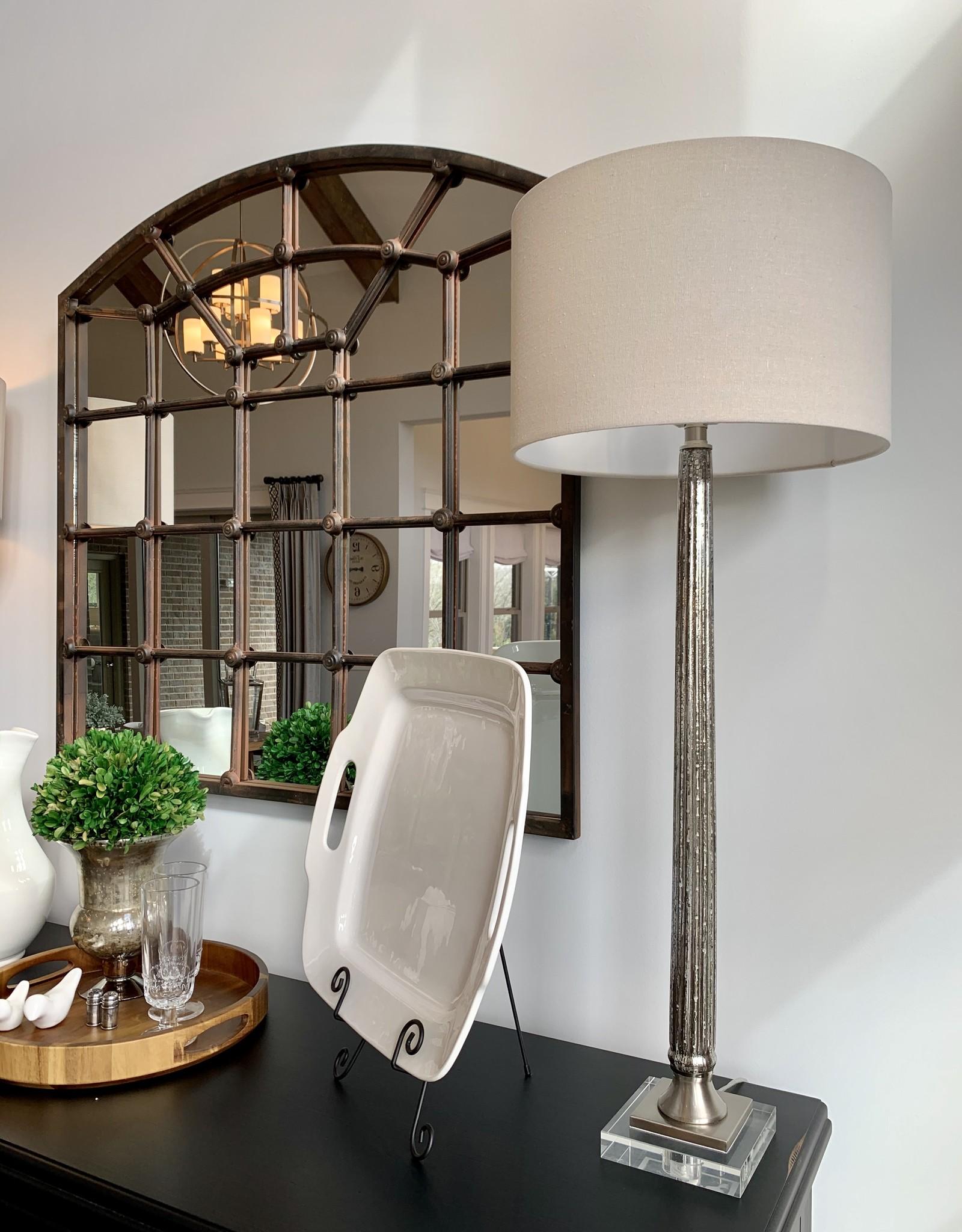 Fiona Ribbed Mercury Glass Lamp