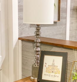 Clement Burnished Silver Lamp