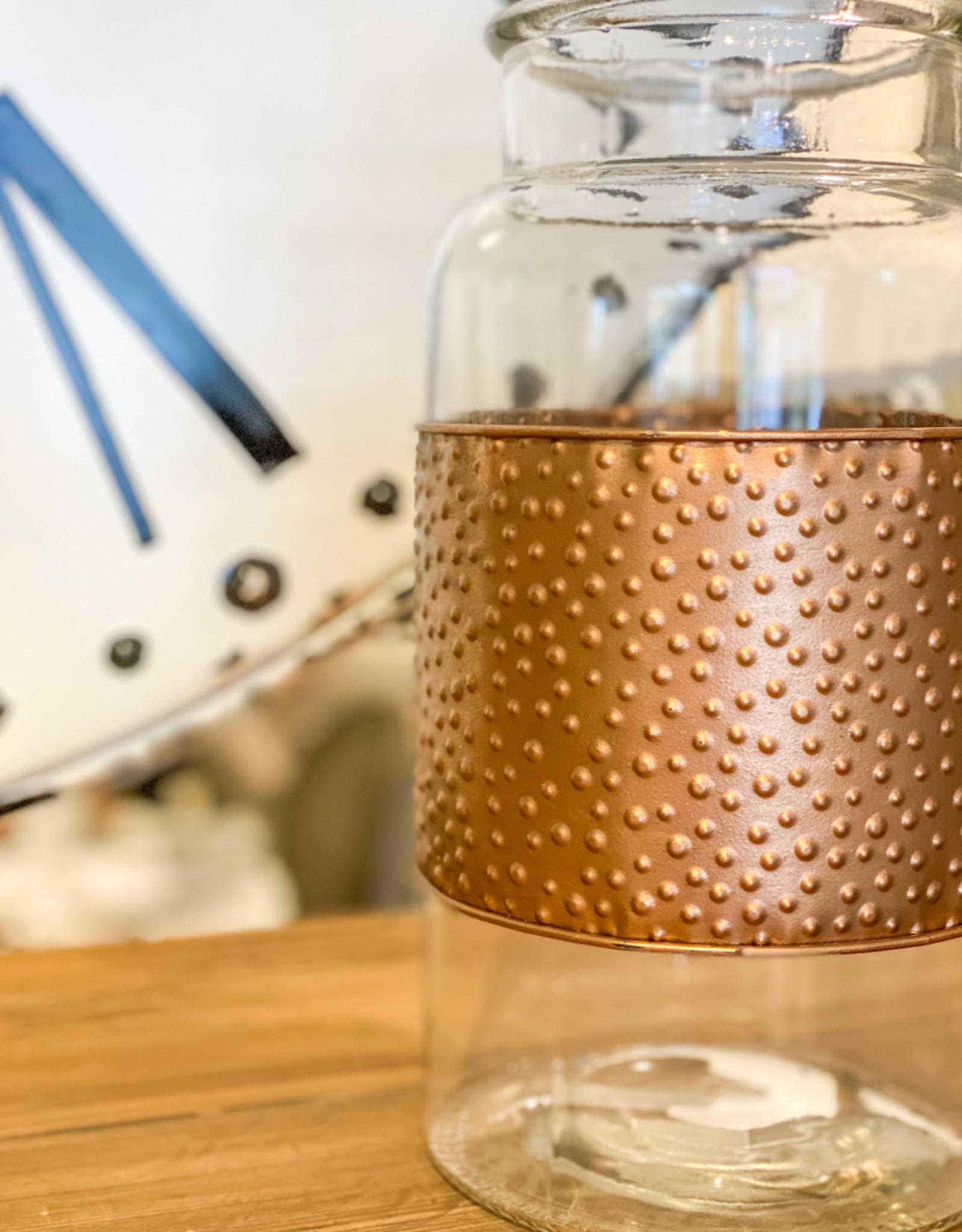 Large Theo Jar w/ Metal Wrap (Set of 2)