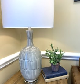 LeAnna Gray Crackle Table Lamp