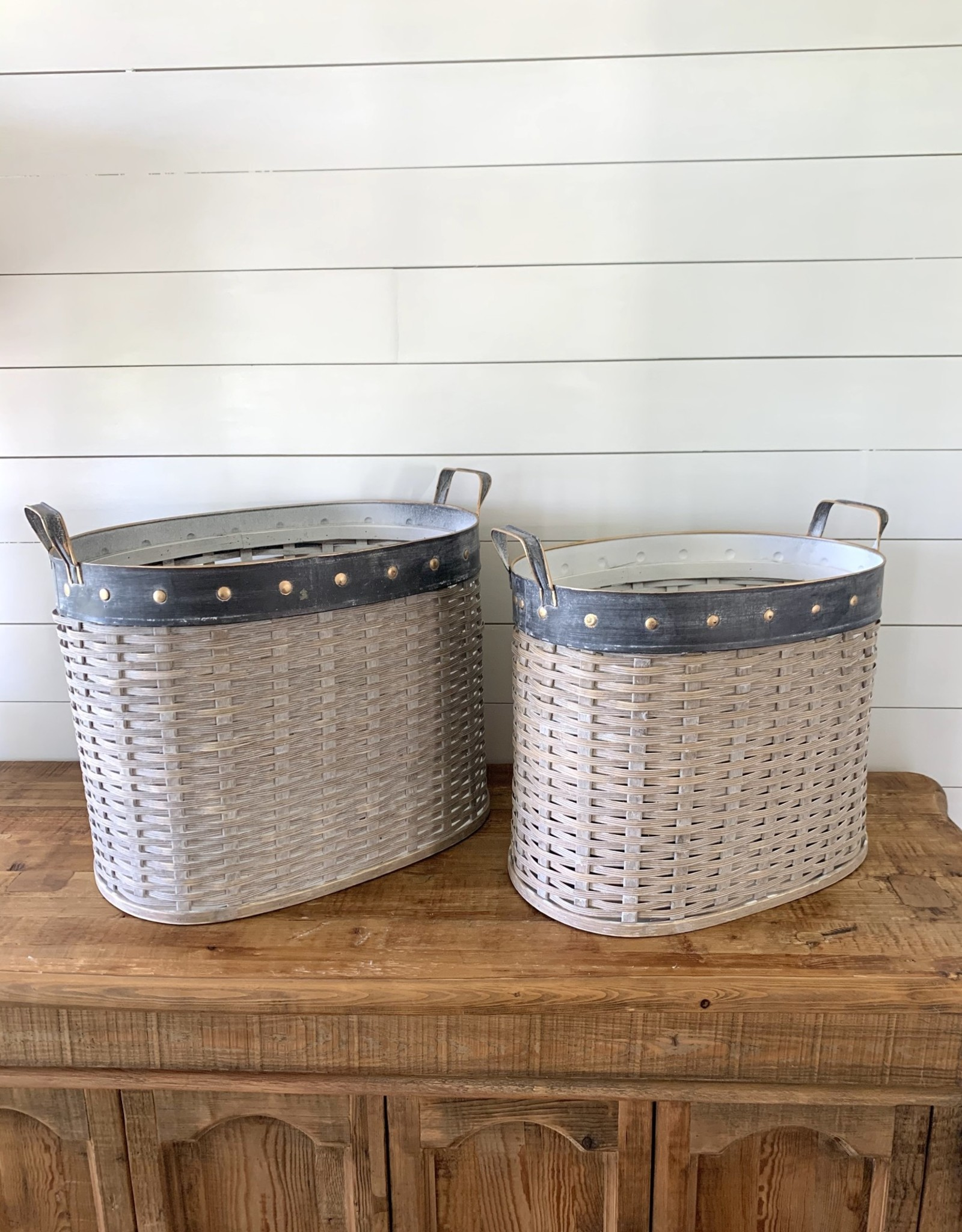 Willow Oval Baskets (Set of 2)