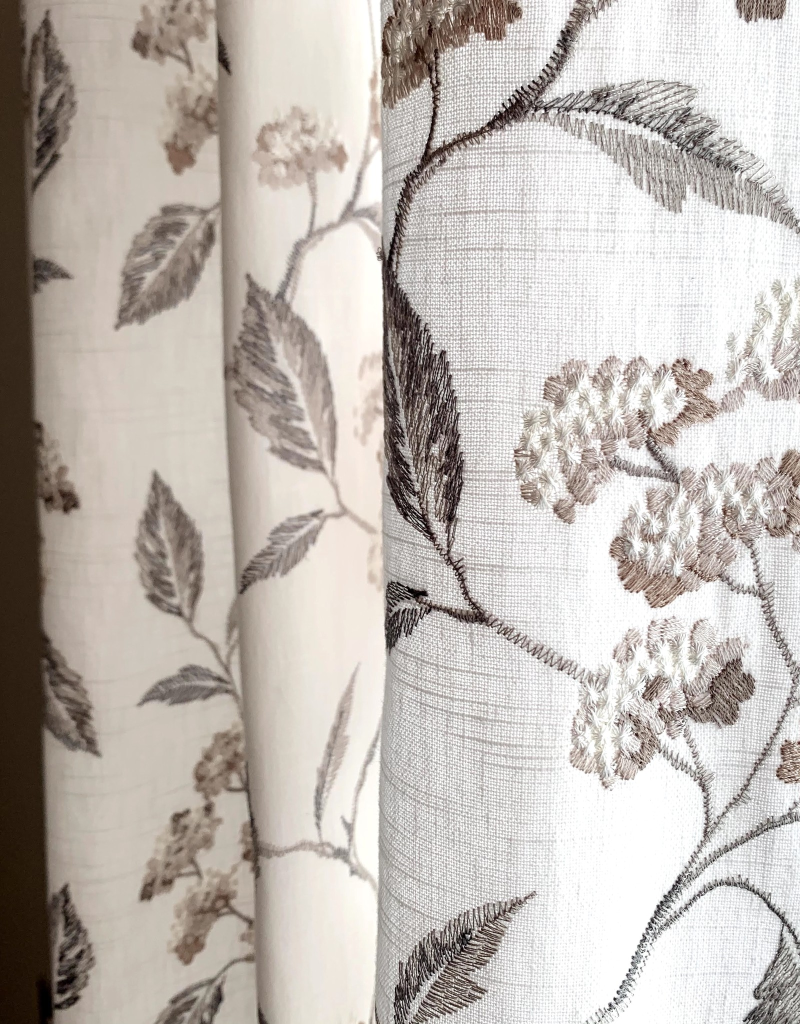 Embroidered Floral Drapes