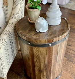 Ceylon Wine Barrel Side Table