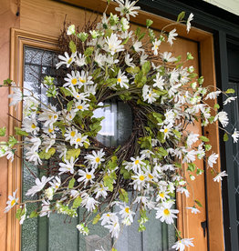 "Daisy & Twig 23"" Wreath"