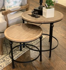 Wood & Metal Nesting Tables