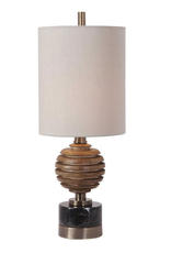 Anatola Wood Sphere Buffet Lamp