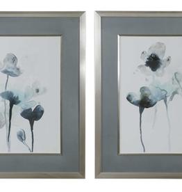 Midnight Blossoms Framed Prints - Set of 2