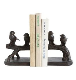Resin Birds on Branch Bookends