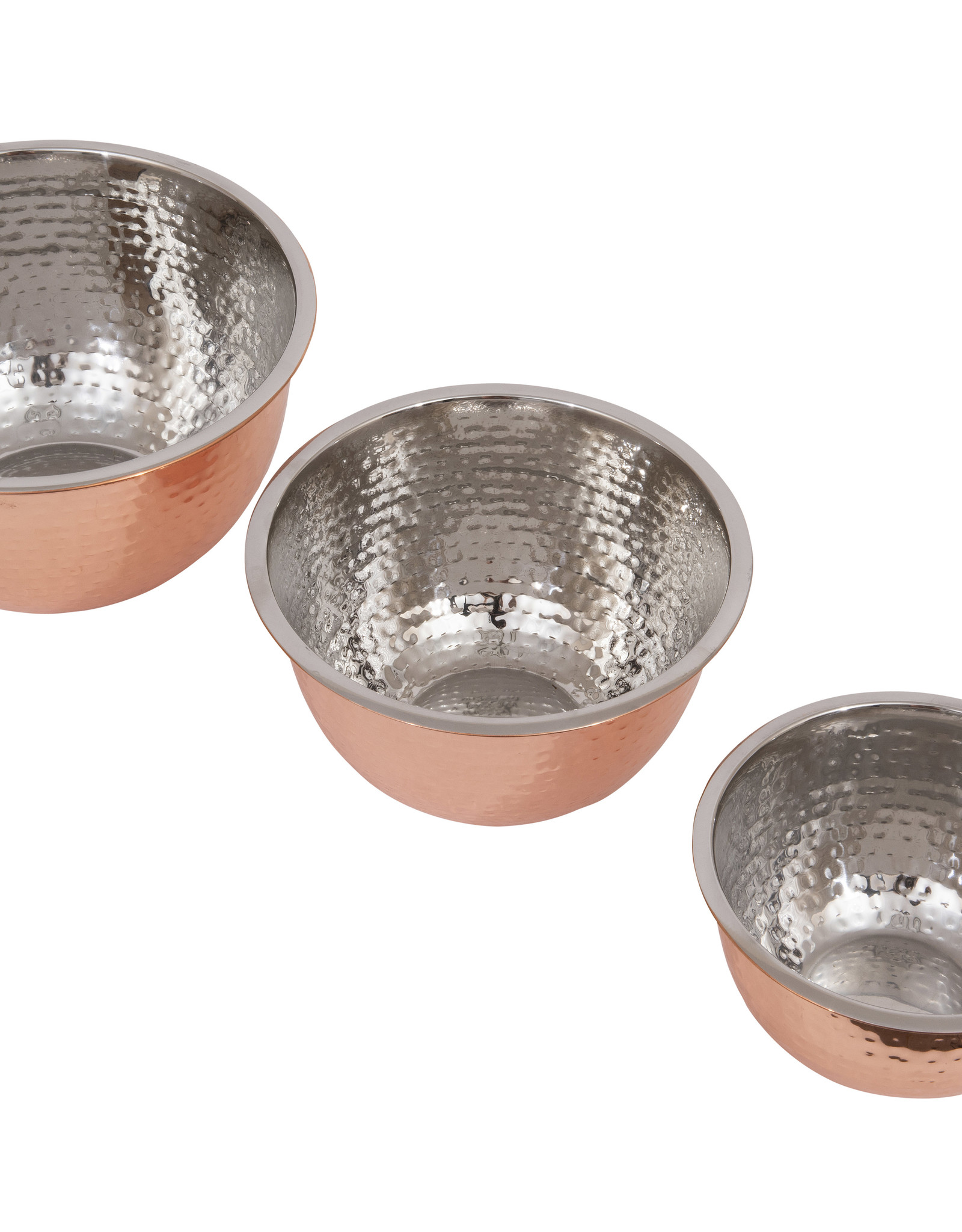 Hammered Copper Bowls  (Set of 3)