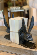 Cast Iron Rabbit Head Bookends