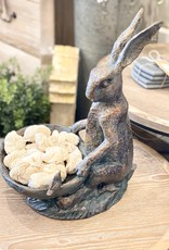 Resin Rabbit Bird Bath