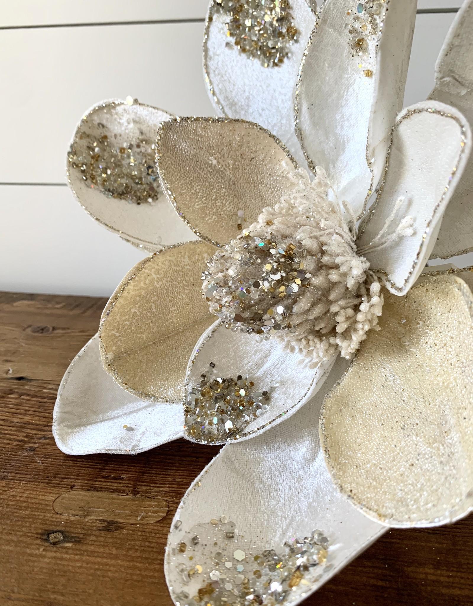 Velvet Magnolia Stem (Set of 6)
