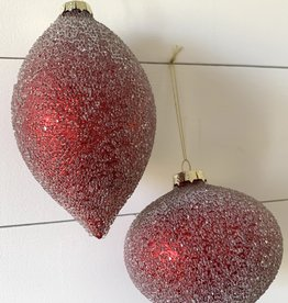Red Glass Ornaments (Set of 6)
