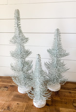 Frosted Pine Trees (Set of 3)