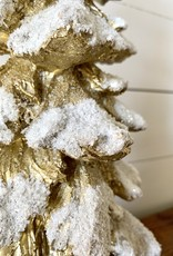 Frosted Gold Trees (Set of 4)