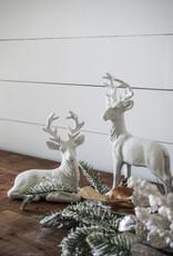 White Glitter Deer (Set of 2)