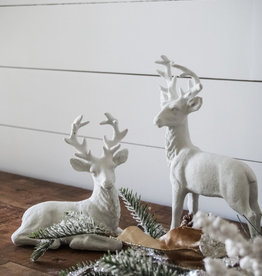 White Glitter Deer (Set of 2)