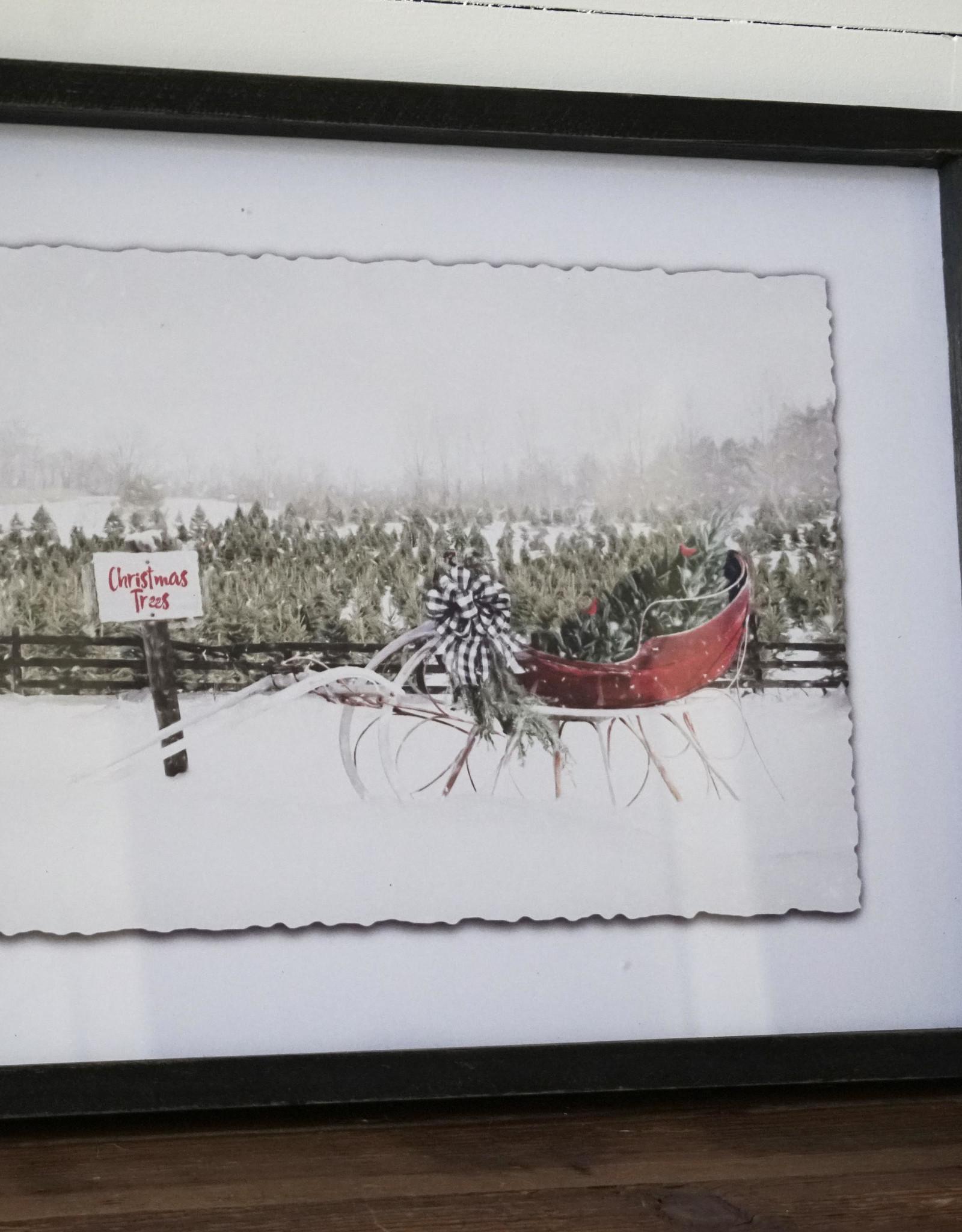 Framed Sleigh Prints (Set of 2)