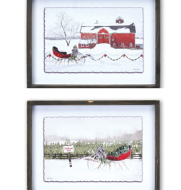 Framed Sleigh Prints (Set of 2)