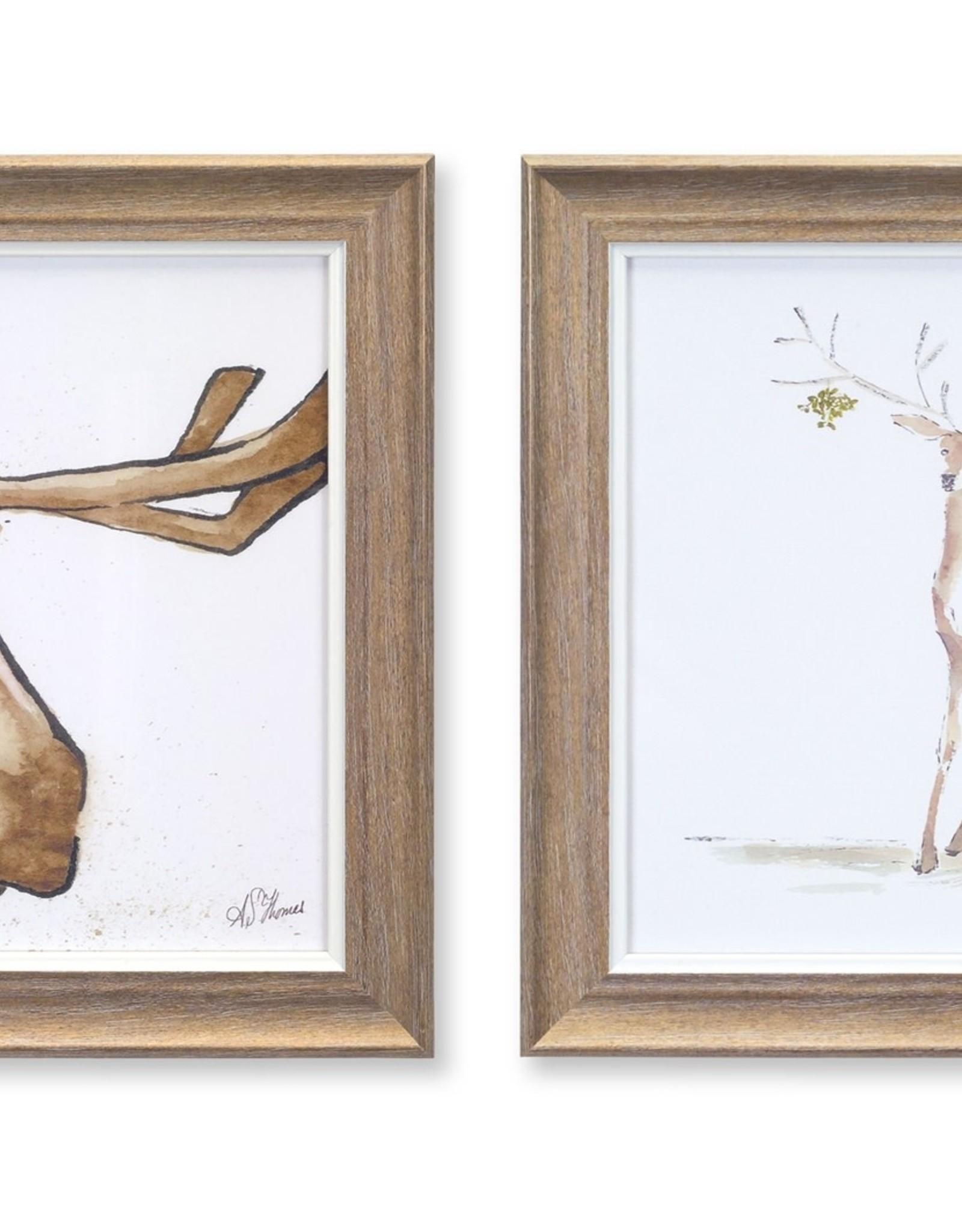 Moose and Deer Print