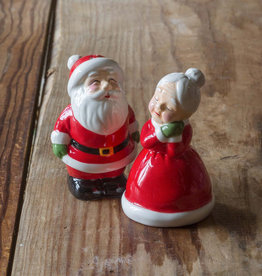 Mr. and Mrs. Santa Claus Salt and Pepper Shakers