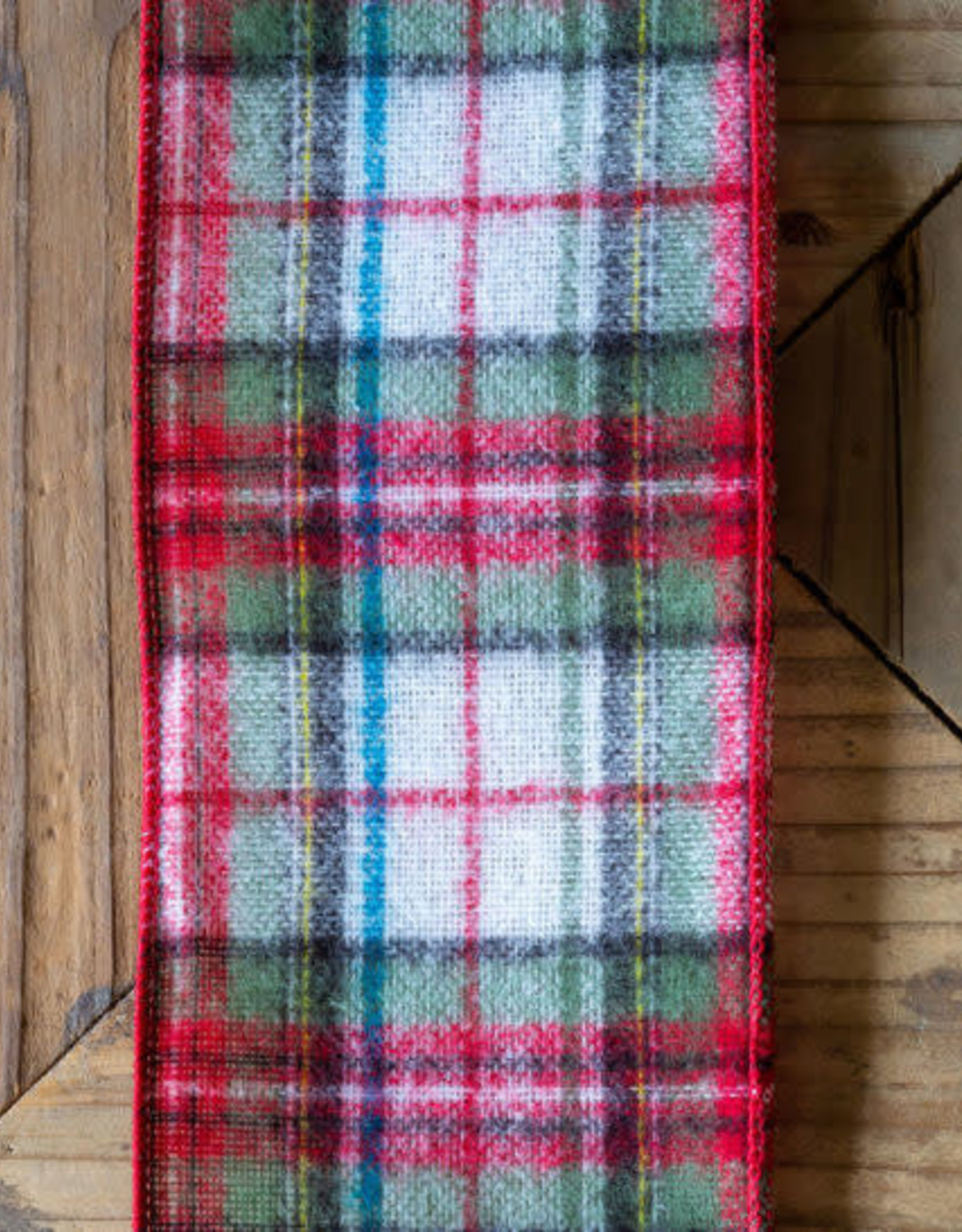 Plaid Flannel Ribbon, Red/Green