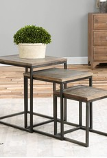 Bomani Wood Nesting Tables Set/3