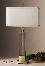 Caecilia Amber Glass Table Lamp