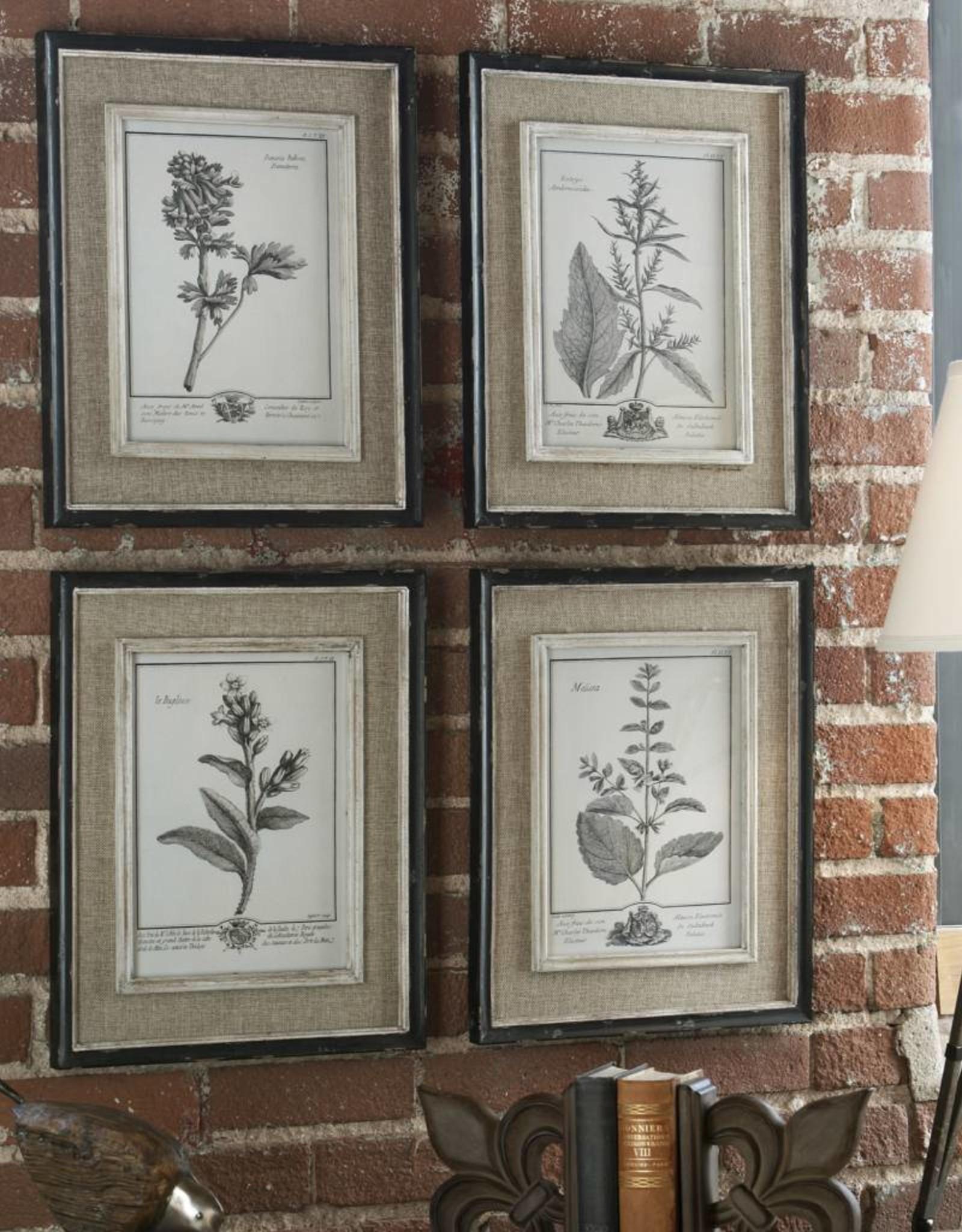 Casual Grey Study Framed Art Set/4