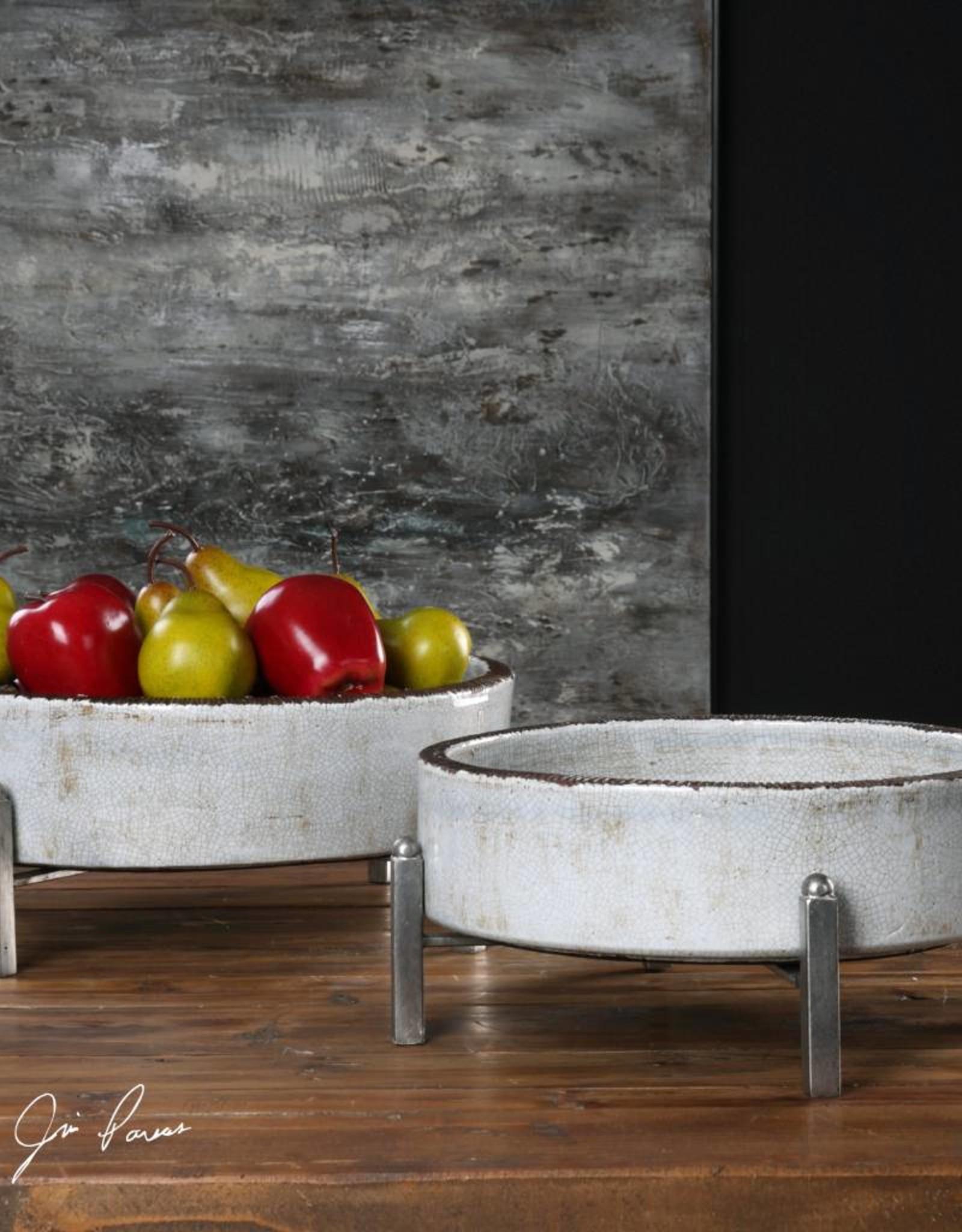 Essie Pale Gray Bowls - Set of 2