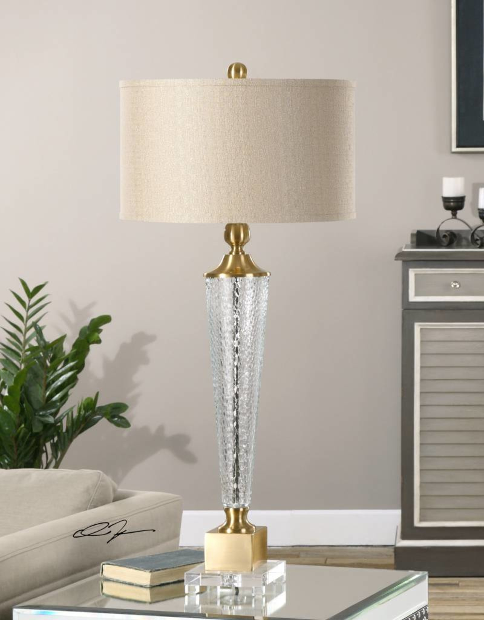 Credera Textured Glass Lamp