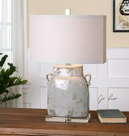 Melizzano Ivory-Gray Table Lamp