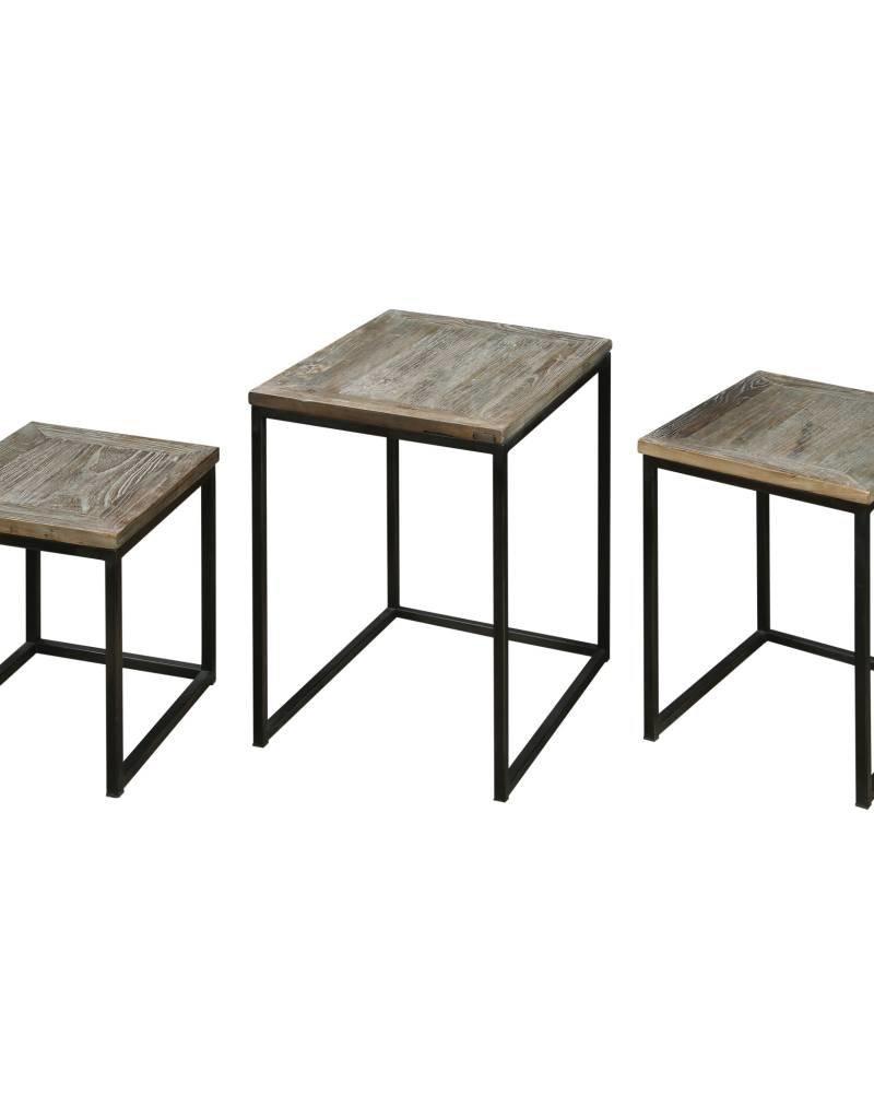 Bomani Wood Nesting Tables Set/3
