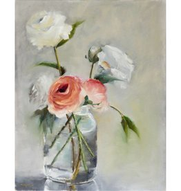 White Roses Shadow Box